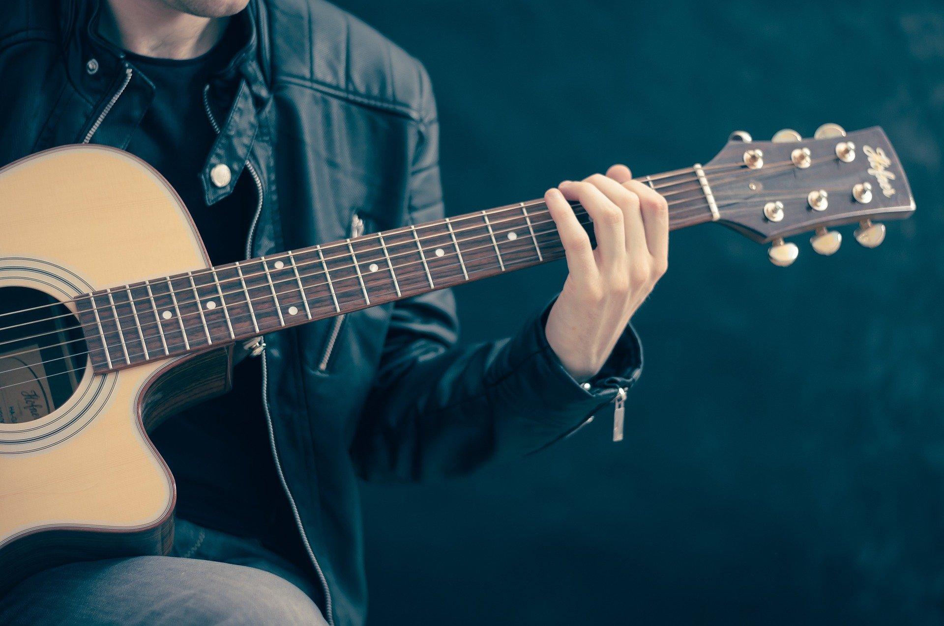 Gitarre-Musik-Musiker-Konzert